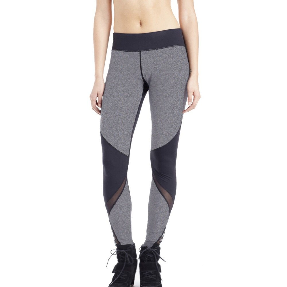 Black knee light grey leggings