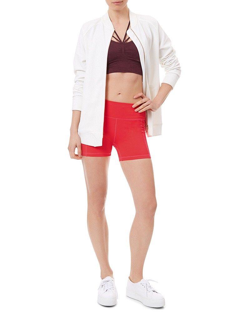 Plain red shorts