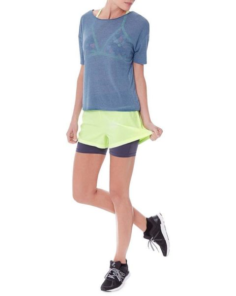 Lime yellow sports shorts