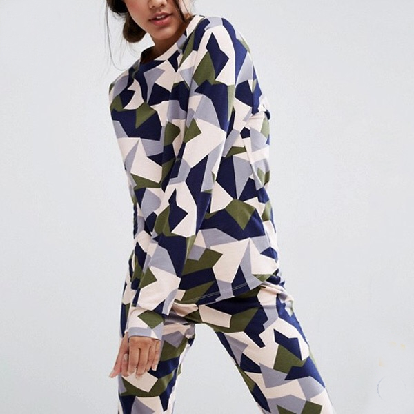 Statement patterned tracksuit